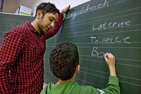 Freiwilligendienst in der Integration (Bildnachweis: ©BMFSFJ/ Bertram_Hoekstra)