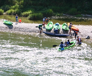 Bootfahren an der Isar