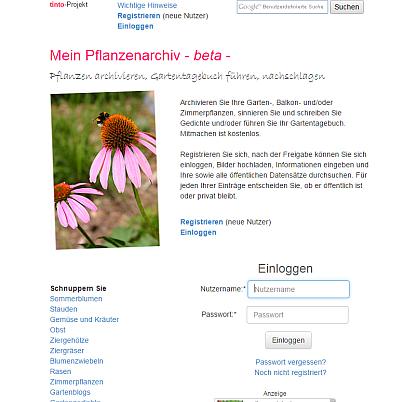 Mein Pflanzenarchiv - home