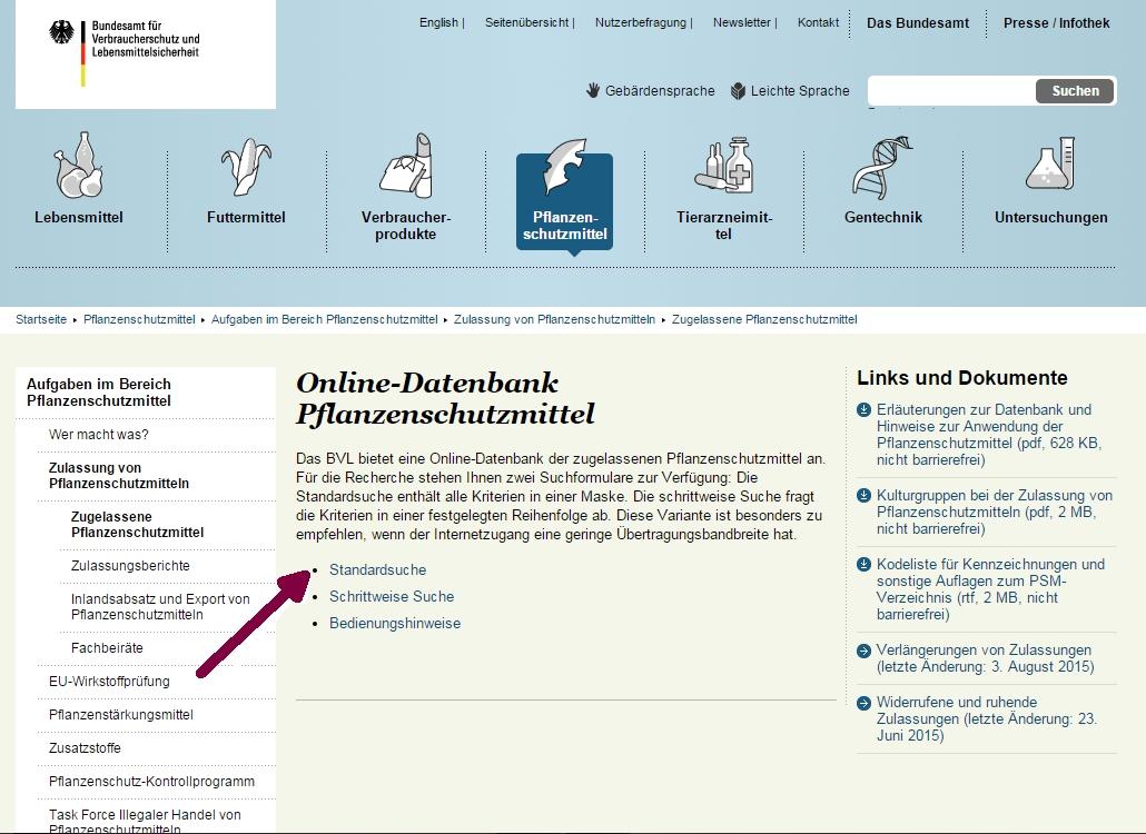 Pflanzenschutzmittel-Online-Datenbank