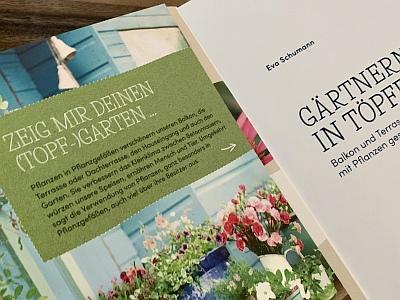 Buchtipp Gärtnern in Töpfen - Garten, Terrasse, Balkon, Eingangsbereich - Werbelink Amazon.de