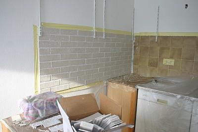Decke, Wand und Küchenspiegel renovieren. DIY.
