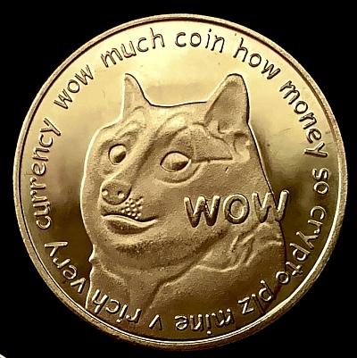 Dogecoin - symbolische Münze für diese Meme-Kryptowährung